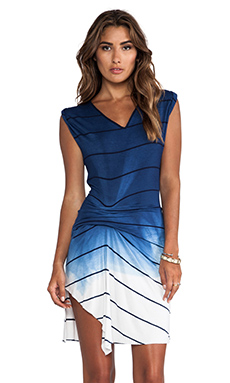 Saint Grace Riza Ombre Stripe Jersey Dress in Liberty OW