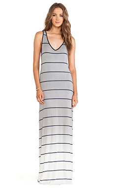Saint Grace Bryn V-Neck Maxi in Pewter Ombre