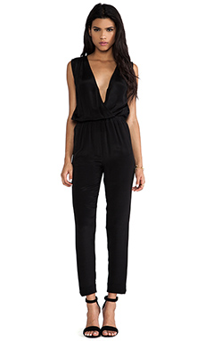 Surface to Air Draped Jumpsuit in Black