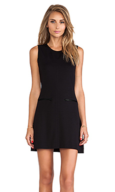 Sanctuary Zip Mod Molly Dress in Black