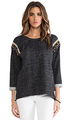 Sanctuary Knits Ornate Sweater in Black