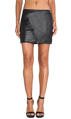Sanctuary Perforated Vegan Mini Skirt in Black