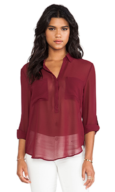 Sanctuary Soft Wovens Cafe Tunic in Tapestry Red