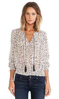 Sanctuary Savannah Freestyle Blouse in Feather Spots