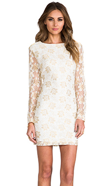 SAM&LAVI Juliet Dress in Metallic Lace