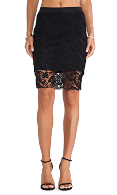 SAM&LAVI Marine Lace Skirt in Black