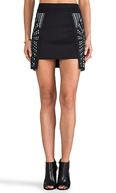 Sass & Bide Snap-Shot Skirt in French Navy & Mint