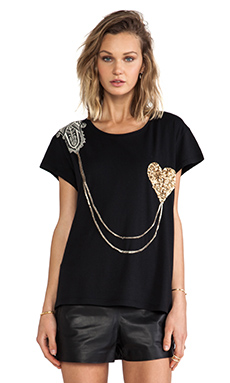 Sass & Bide Drive On Tee in French Navy