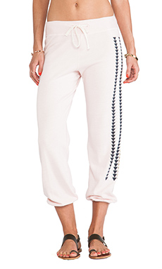 SUNDRY Pattern Sweatpant in Petal