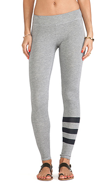 SUNDRY Stripes Yoga Legging in Heather Grey