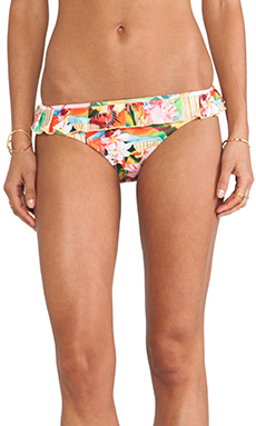 Seafolly Butterfly Coast Pleat Frill Bottom in Bamboo