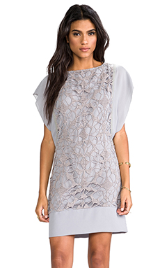 See By Chloe Boucle Underlay Dress in Medium Grey
