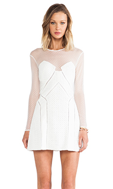 WHITE NIGHT A-LINE DRESS