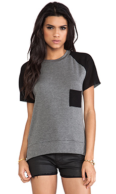 sen Kayla Tee in Charcoal & Black