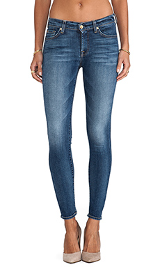 7 For All Mankind The Ankle Skinny in Destroyed Rue De Lille