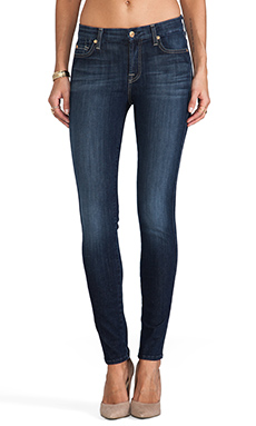 7 For All Mankind Slim Illusion Mid Rise Skinny in Seine River