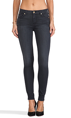 7 For All Mankind High Waisted Skinny in Bastille Castle Grey