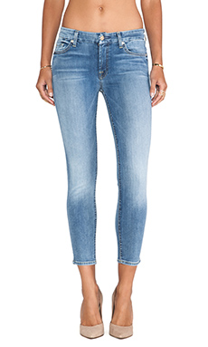 7 For All Mankind The Cropped Skinny in Super Sanded Blue