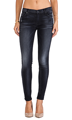 7 For All Mankind The Skinny with Squiggle in Slim Illusion Storm Black
