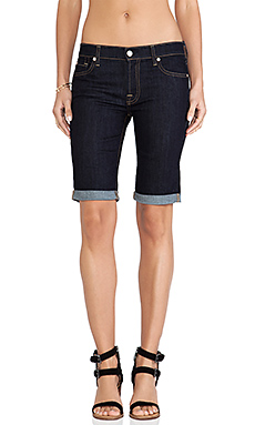 7 For All Mankind Bermuda Short in Ink Rinse