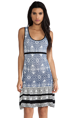 SHAE Drop Waist Dress in Ikat Print