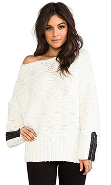SHAE Oversized Sweater in Winter White