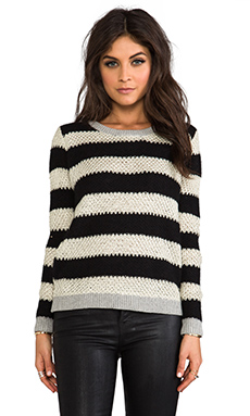 SHAE Striped Sweater in Gold & Black