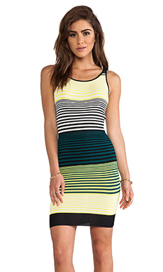 SHAE Tank Dress in Lemon Stripe