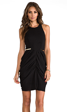 Shona Joy The Worshiped Draped Mini Dress in Black