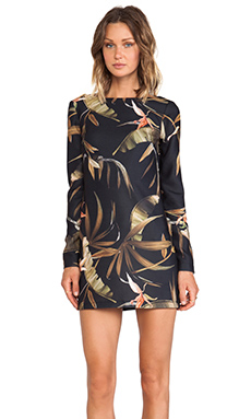 Shona Joy Lucid Long Sleeve Dress in Multi
