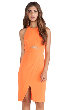 Shona Joy Abstraction Cross Over Dress in Mandarin