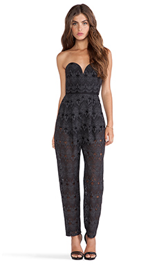 Shona Joy Romanticist Bustier Jumpsuit in Black