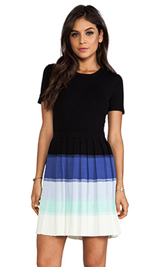 Shoshanna Ombre Berkley Sweater Dress in Black Multi