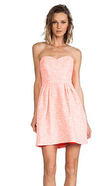 Shoshanna Megan Dress in Neon Orange