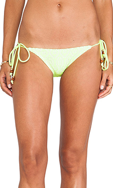 Shoshanna Beaded String Bottom in Neon Yellow