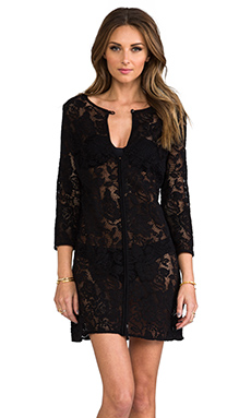 Shoshanna Fresia Lace Tunic in Black
