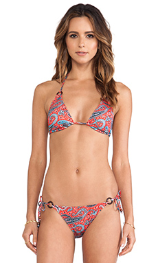 Shoshanna Triangle Bikini Top in Portland Paisley
