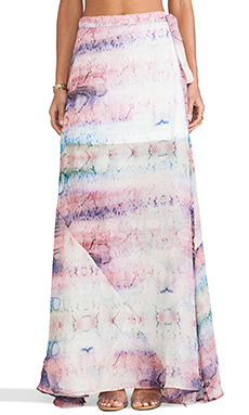 Show Me Your Mumu Emoji Salsa Skirt in Rainbow Python