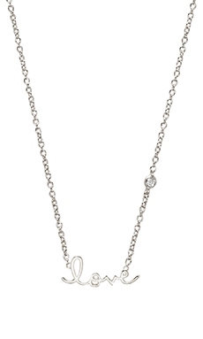 Shy by Sydney Evan Love Necklace with Diamond in White