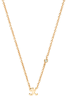 Shy by Sydney Evan K Necklace with Diamond Bezel in Yellow Gold