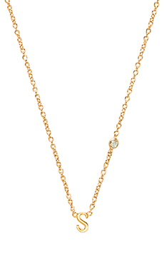 Shy by Sydney Evan S Necklace with Diamond Bezel in Yellow Gold