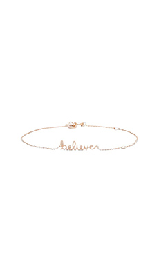 Shy by Sydney Evan Believe Bracelet in Rose Gold