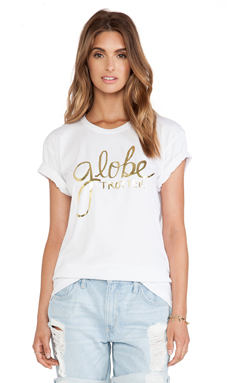 Sincerely Jules Globe Trotter Tee in White