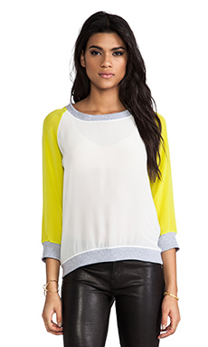 SJOBECK Silk Sweatshirt in Citron