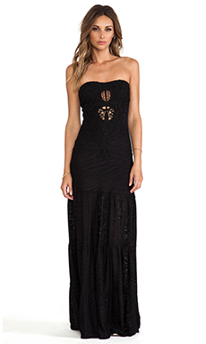 sky Kinthea Maxi Dress in Black