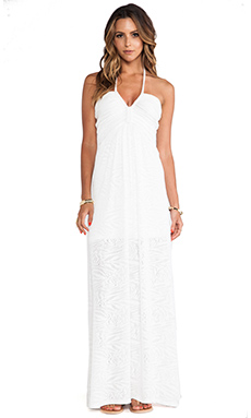 sky Lewan Maxi Dress in White