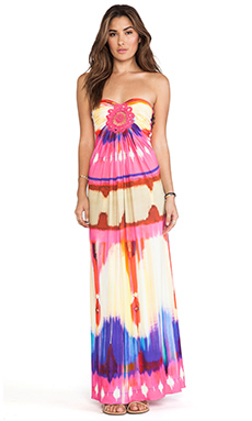 sky Loveli Maxi Dress in Fuchsia
