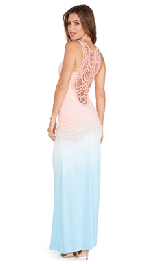 sky Marianne Maxi Dress in Peach
