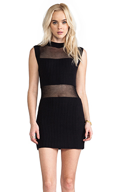 Somedays Lovin Parallels Block Knit Dress in Black