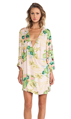 HOAX TROPICAL CAPE DRESS